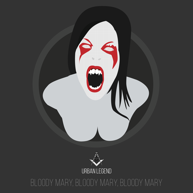 bloody mary, poster,  minimal