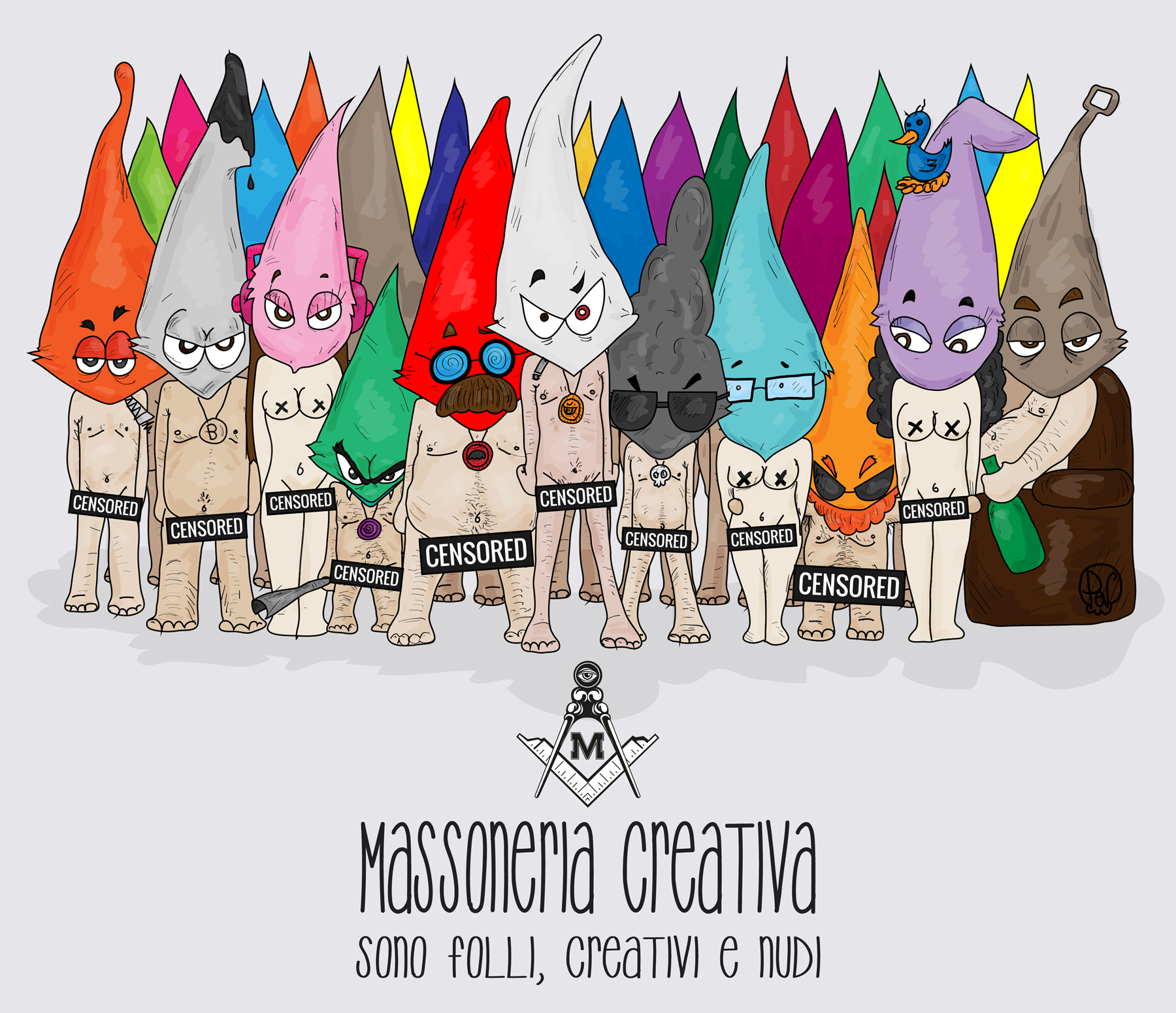 massoneria creativa, comics, ilustracion